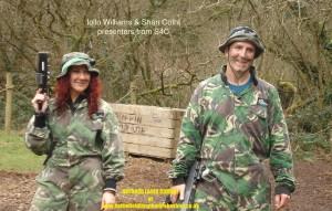 Iollo Williams filming at Battlefield Live Pembrokeshire Laser Combat