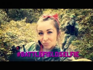 Take your selfie at Battlefield Live Pembrokeshire Fun Laser Combat Adventure