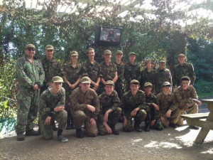 293 (Cowbridge) Sqn Air Cadets at Battlefield Live Pembrokeshire
